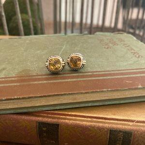 18K/SS Citrine Earrings